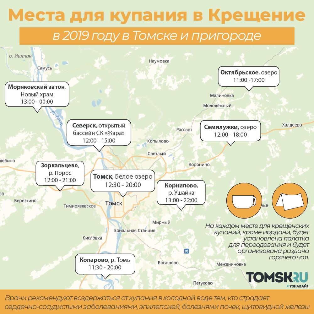 Томск.ру новости купание крещение прорубь