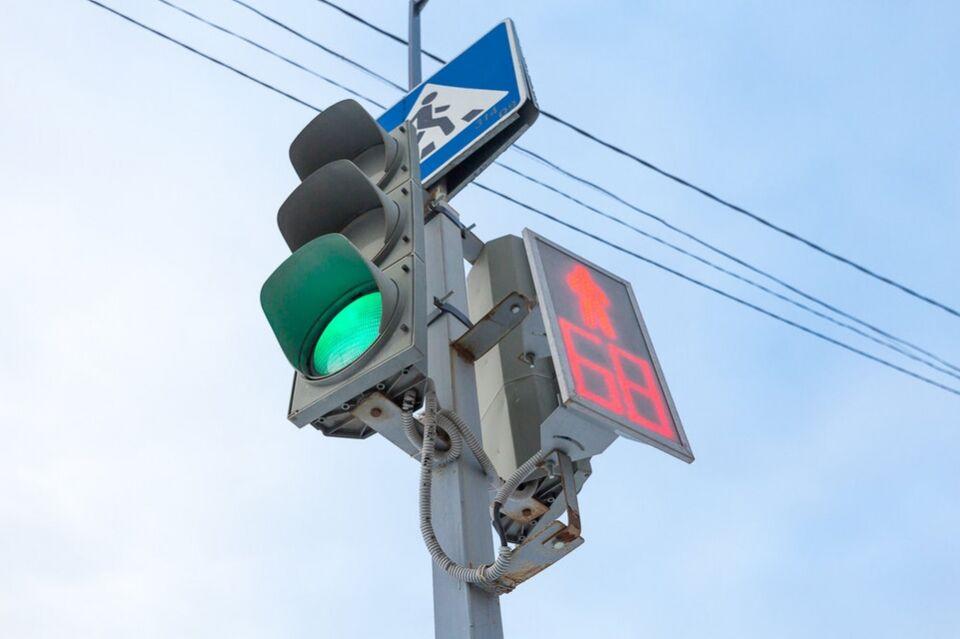 Новый светофор заработал в тестовом режиме в Октябрьском районе