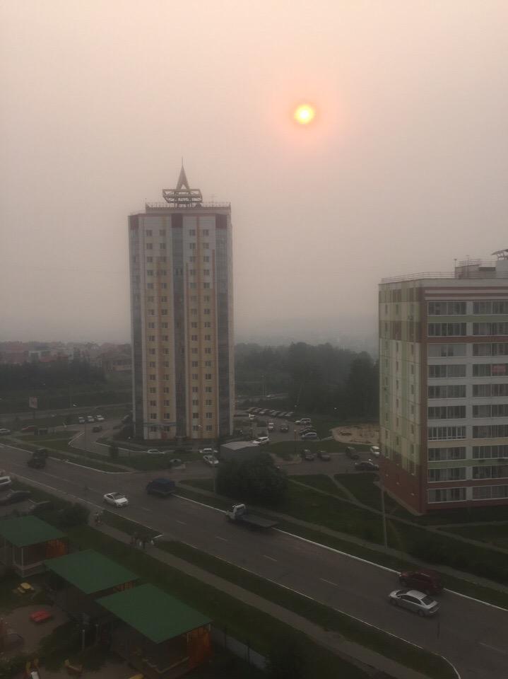 Дым с гарью продержится в Томске до среды