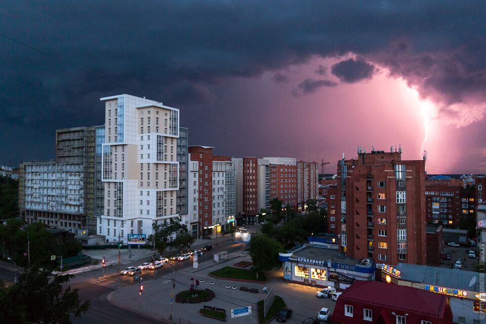 В Томске объявлено штормовое предупреждение