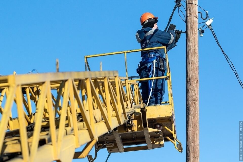 Два микрорайона Томска останутся без света в понедельник