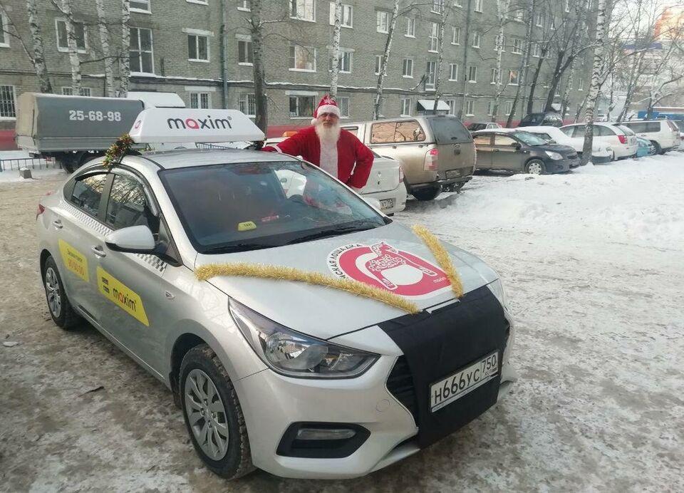 Дед Мороз с номером 666 приезжает к томичам по заказу
