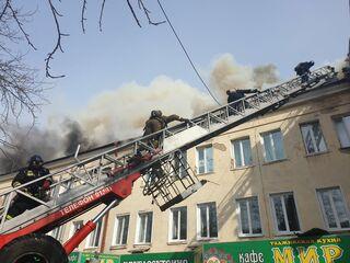 Полгорода охвачено дымом: крупный пожар в Томске на проспекте Кирова