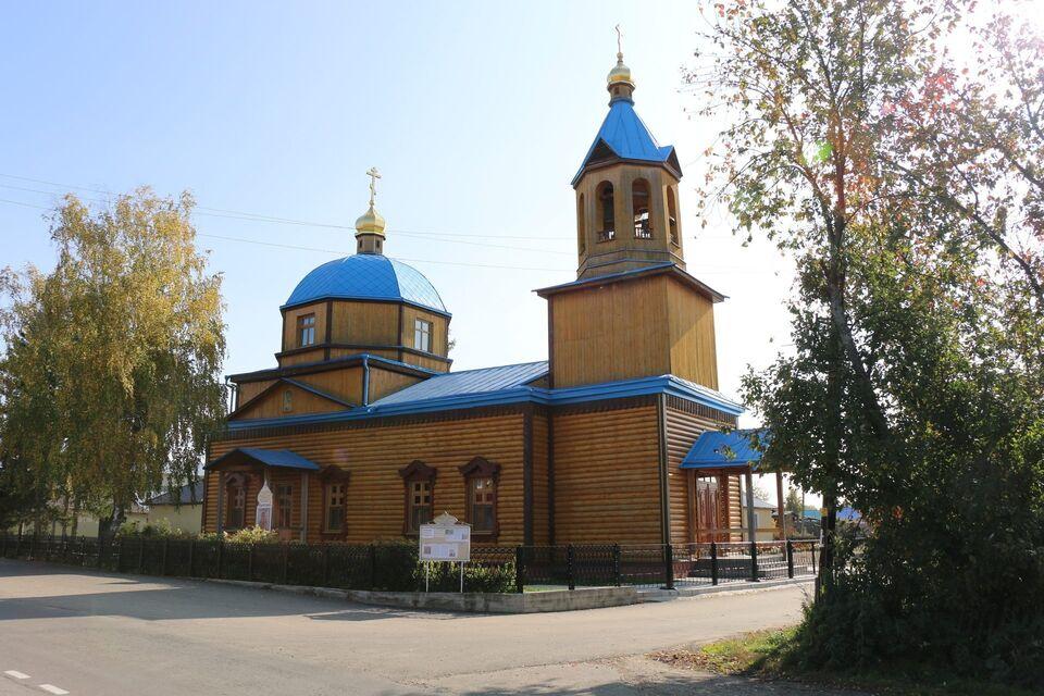Деревянный храм сгорел в пригороде Томска