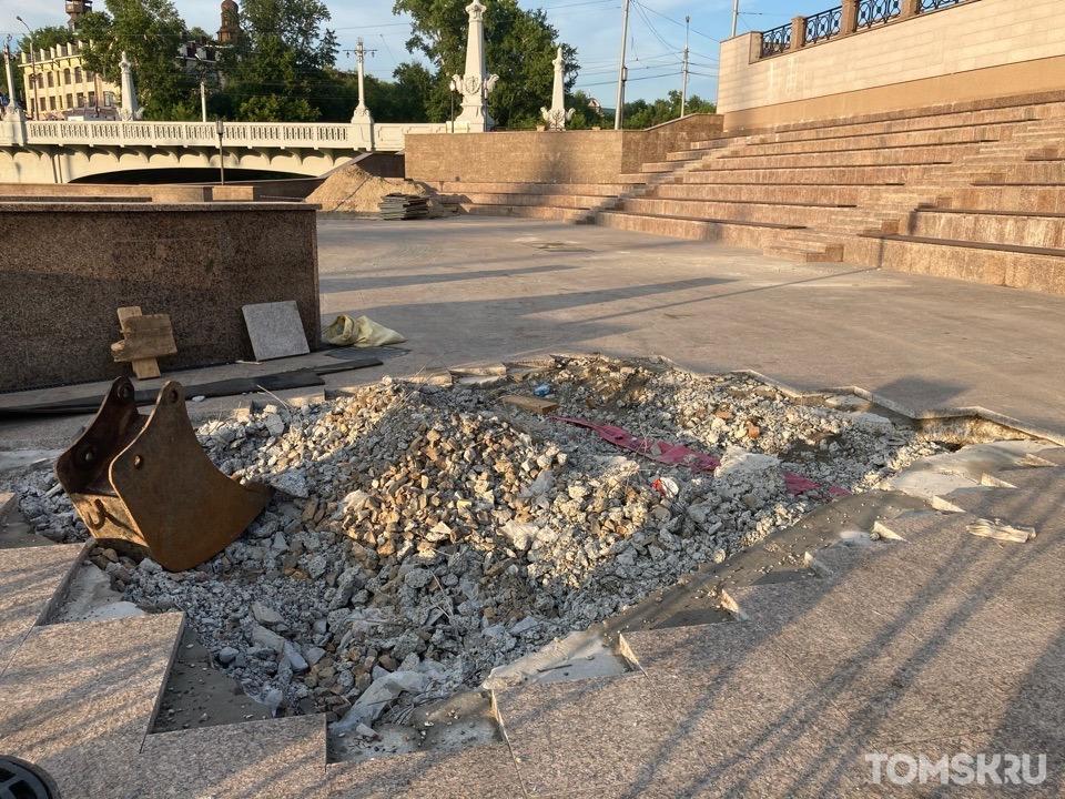 В Томской филармонии рассказали про установку экранов на набережной Ушайки