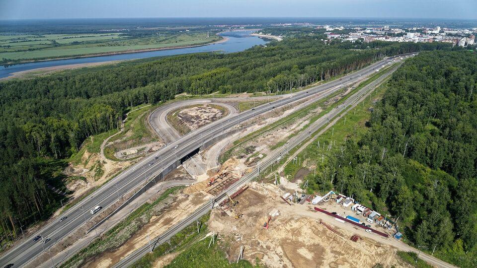Мэр Томска проинспектировал строительство транспортной развязки на 76 км