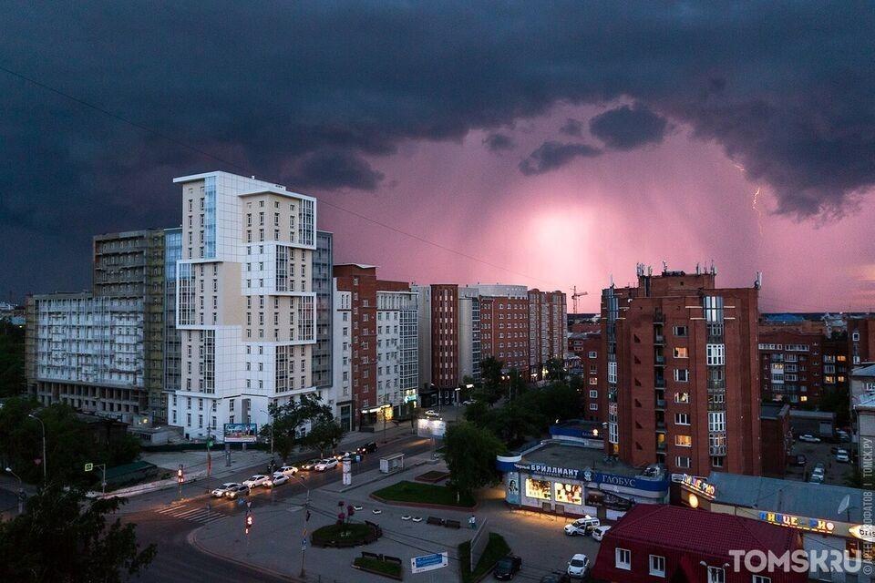 Синоптики снова прогнозируют грозу в Томске