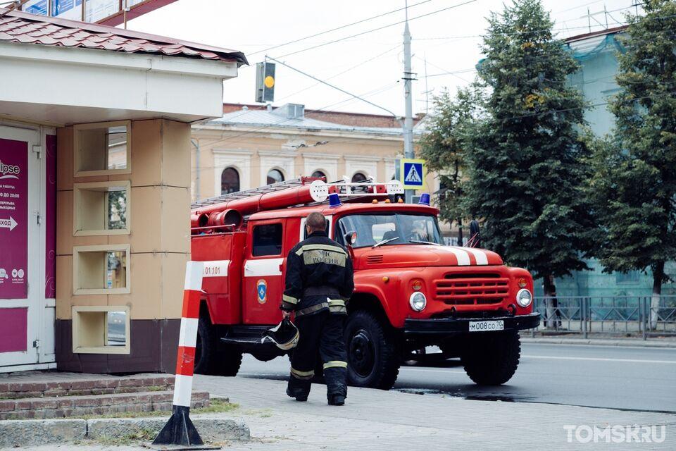 Центр города в дыму: горит кафе на проспекте Ленина