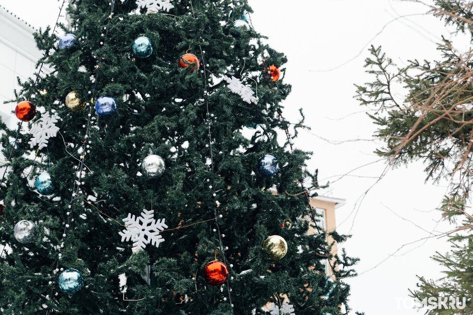 Томск начал преображаться к Новому году