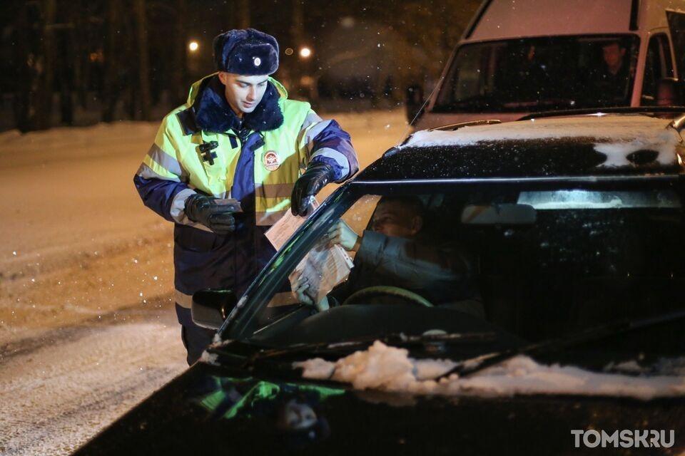 В Томской области за сутки поймали шесть пьяных водителей