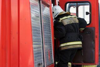 Около Северска сгорел маршрутный автобус