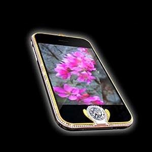 Австрийский дизайнер Петер Алойсон (Peter Aloisson) изготовил iPhone, который претендует на звание самого дорогого телефона в мире. Аппарат частично покрыт золотом и инкрустирован 138 бриллиантами. Стоимость этого iPhone 3G составляет 1,6 миллиона фунтов стерлингов (более 1,8 миллиона евро).
