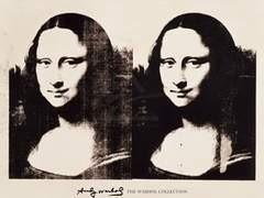 """Инкарнация """"иконы"""" эпохи Возрождения, """"Моны Лизы"""" Леонардо да Винчи, в стиле поп-арт Энди Уорхола продана на торгах Sotheby's за 1,8 миллиона долларов. Предпродажный эстимейт лота составлял 1,5-2 миллиона долларов."""